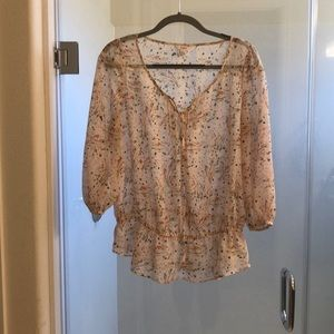 Beautiful soft pink floral top